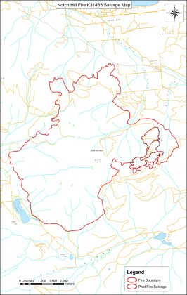 Notch Hill Fire K31483 Salvage Map