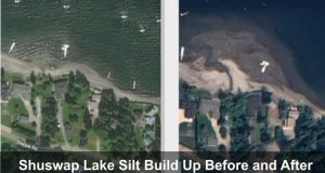 Shuswap Lake Silt Build Up
